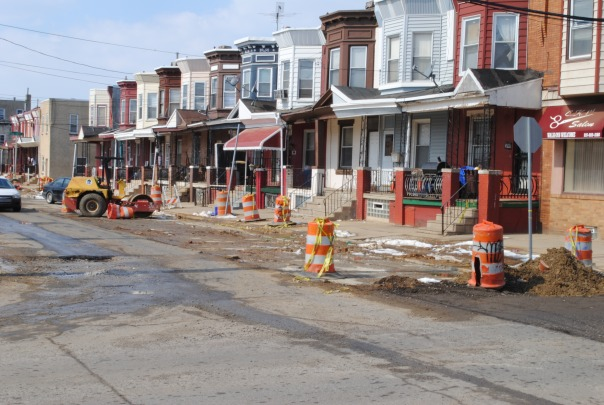 construction put on hult around 21st and Somerset in North Philly